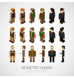 Isometric human set vector