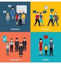 People social behavior patterns vector
