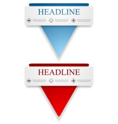 Abstract banners with triangle shape vector