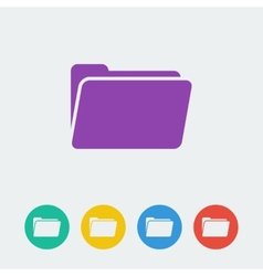 Folder flat circle icon vector