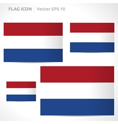 Netherlands flag template vector