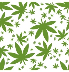 Weed seamless pattern vector