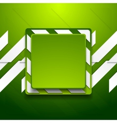 Green abstract geometric corporate background vector