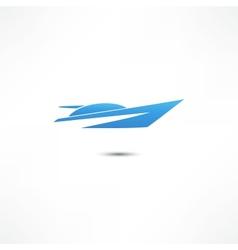 Yacht icon vector