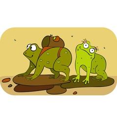 Frogs hiker vector