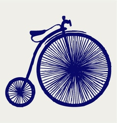 Penny farthing vector