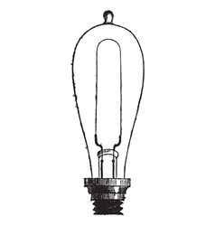 Incandescent lamp vintage engraving vector
