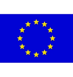 Flag of eu vector