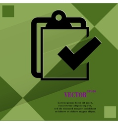 Notepad paper documents flat modern web design on vector
