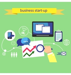 Business plan strategy vector