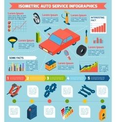 Auto service isometric infographics vector