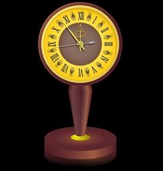 Vintage clock shortly before midnight vector