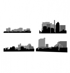 Architectural silhouettes vector