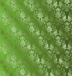 Abstract green background with floral vector