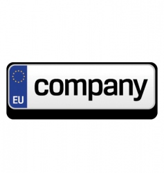European car plate logo vector