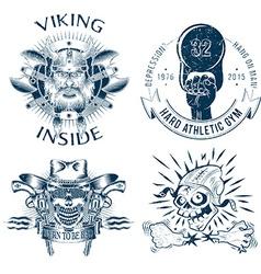 Shabby logos vector