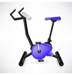 Exercise bike vector
