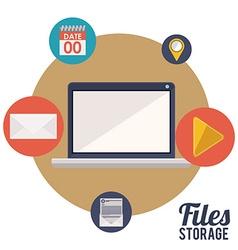 File storage design vector