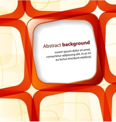 Red square and frame background vector