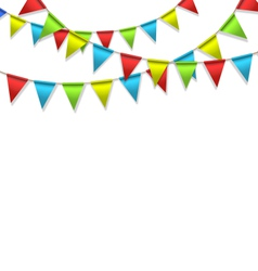 Buntings isolated on white vector