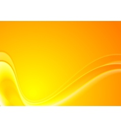 Abstract yellow orange wavy background vector