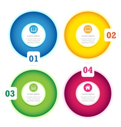 Modern circle design full color template vector