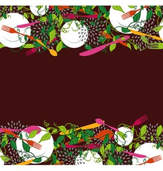Food restaurant seamless pattern vector