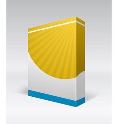 Blank dvd box on background vector