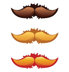 Mustaches set2 vector