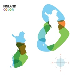 Abstract color map of finland vector