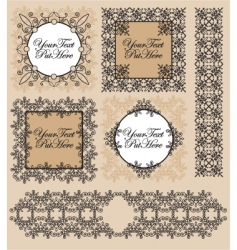 Set victorian frames and border vector
