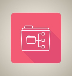 Browser folder icon vector