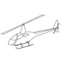 Helicopter silhouette vector