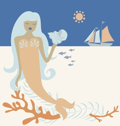 Ocean mermaid vector