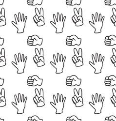 Rock-paper-scissors pattern background vector