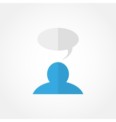 Man and a cloud of thoughts icon vector