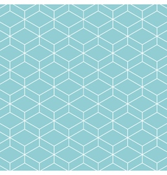 Cube pattern background blue green vector