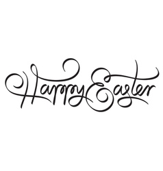 Happy easter hand lettering handmade calligraphy vector