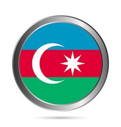 Azerbaijan flag button vector