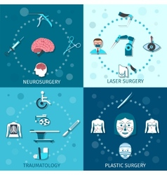 Medical surgery set vector