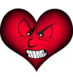 Furios red heart vector