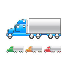 Lorry  mac truck icon vector
