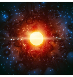 Star born light shine space burning universe vector