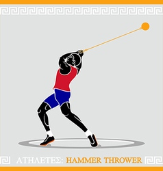 Athlete hammer thrower vector