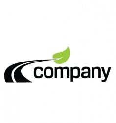 Eco fuel road logo design vector