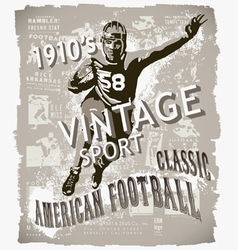 Classic american football vector