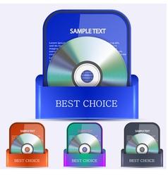 Packaged discs vector