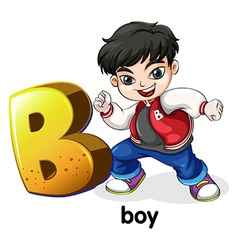 A letter b for boy vector