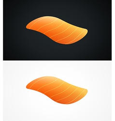 Steak of raw salmon fish vector