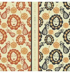 Set of seamless pattern on thanksgiving vector